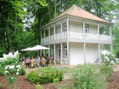 Das Teehaus beim Palmenfest